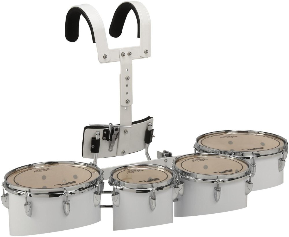 Sound Percussion Labs Birch Marching Quads with Carrier 8 in.,10 in.,12 in.,13 in. White
