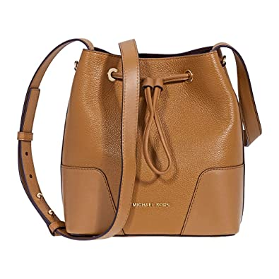213f111415d9 Michael Kors Pebbled Leather Crossbody Bag- Acorn  Handbags  Amazon.com
