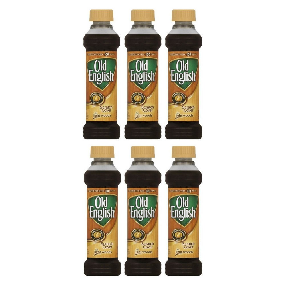Old English Scratch Cover For Light Woods, 8 fl oz Bottle, Wood Polish (6pack)