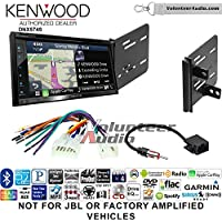 Volunteer Audio Kenwood DNX574S Double Din Radio Install Kit with GPS Navigation Apple CarPlay Android Auto Fits 2013-2015 Scion FR-S, BR-Z