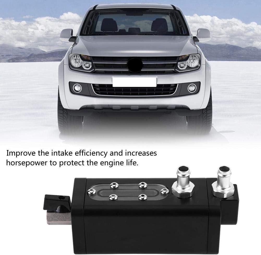 Duokon Aluminium 500ml Universal Square 2 Port Auto Herstellung Raffiniertes /Öl kann Reservior Oil Catch Can Tank