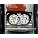 Christian quote - The Lord will fight for you - Car coasters - Sandstone auto cup holder coasters - Gifts for women