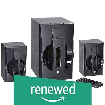Renewed  iBall Tarang Lion BT 2.1 Channel Multimedia Speakers  Black  Multimedia Speaker Systems