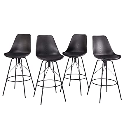 Amazoncom Changjie Furniture 30 Inch Modern Metal Bar Stools For