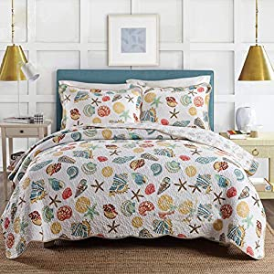 617dx0SwTxL._SS300_ 100+ Best Seashell Bedding and Comforter Sets 2020