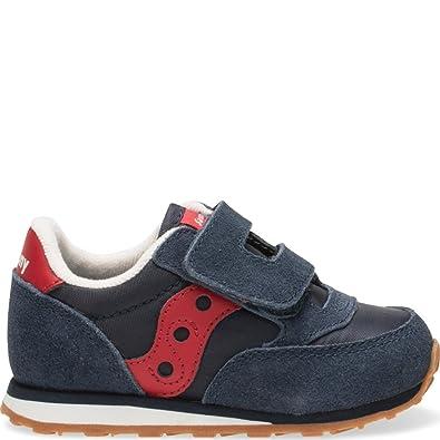 48eecf4f0 Saucony Jazz Hook & Loop Sneaker (Toddler/Little Kid), Navy/Red