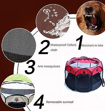 LVRXJP Dobladillo Octagonal Mascotas Tiendas de Oxford Cloth al ...