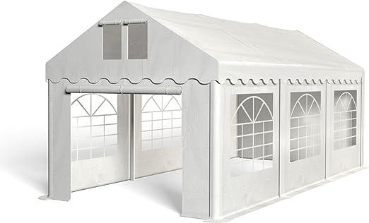Royal Catering Cenador para Eventos Carpa de Jardin RCPT 3/6W (3x6 m, 18m², Impermeable, Resistente a la radiación UV) Blanco: Amazon.es: Jardín
