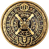 C&C Metal Products 5033 Heraldic Metal Button, Size 40 Ligne, Antique Gold, 36-Pack