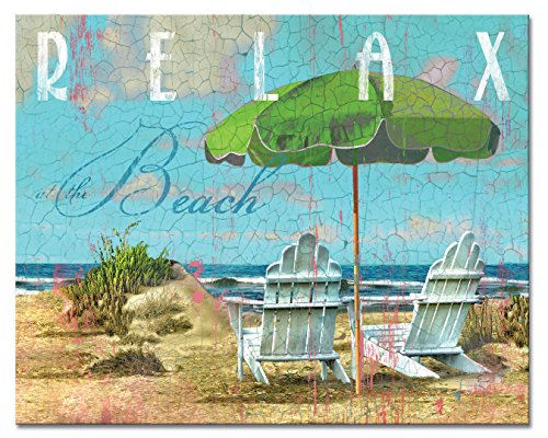 CounterArt Day at The Beach Glass Cutting Board, 15