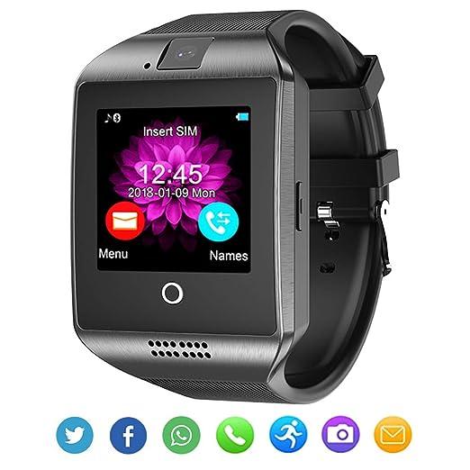 Bluetooth Smart Watch con cámara para Android iOS Hombres Mujeres Niños: Amazon.es: Electrónica
