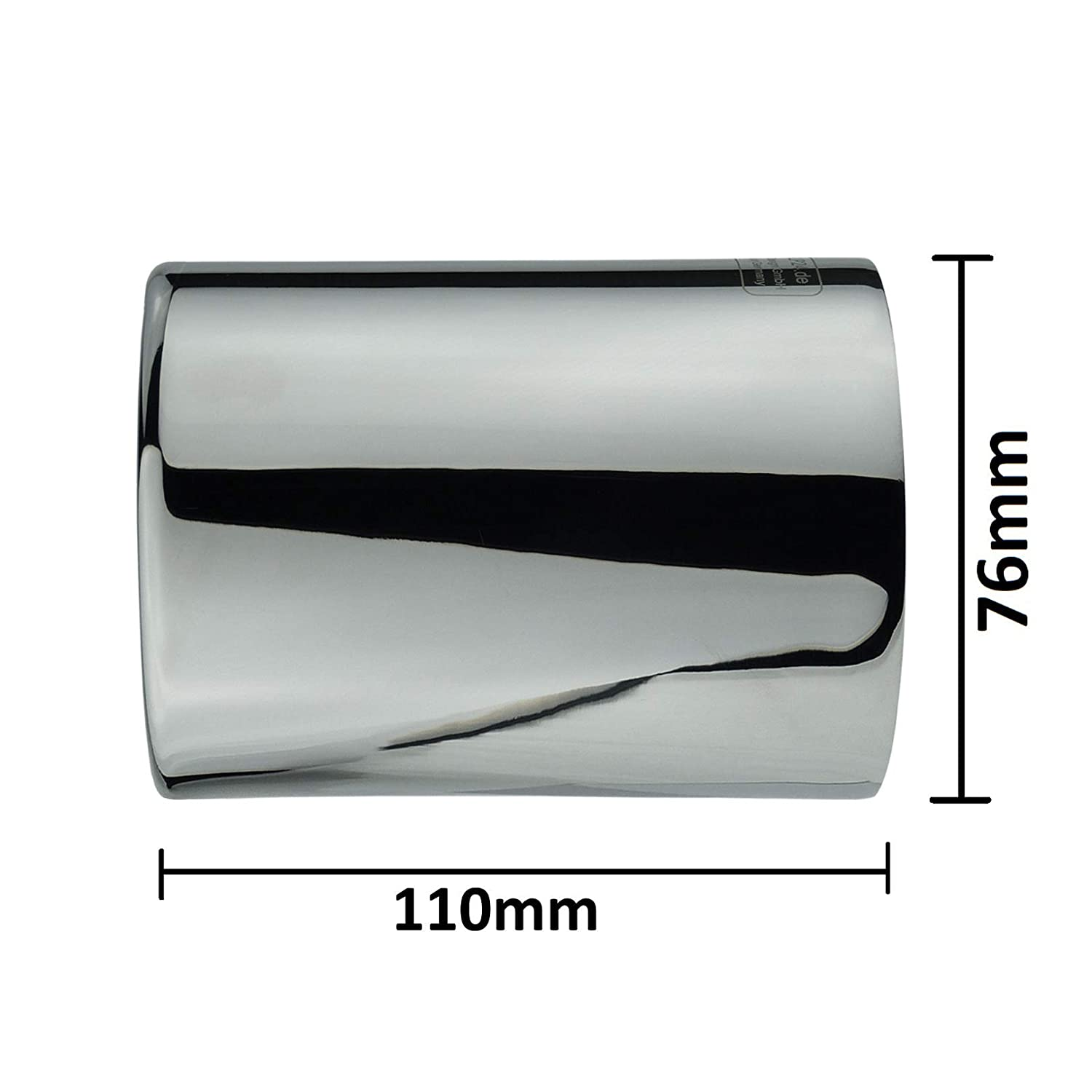 L/&P A304 1 Exhaust Trim Stainless Steel 76 mm Mirror Polished Chrome Plug /& Play Tailpipe Trim Tailpipe Trim Tailpipe Trim Tailpipe Reference Numbers 1830 7622764-1830 7622762