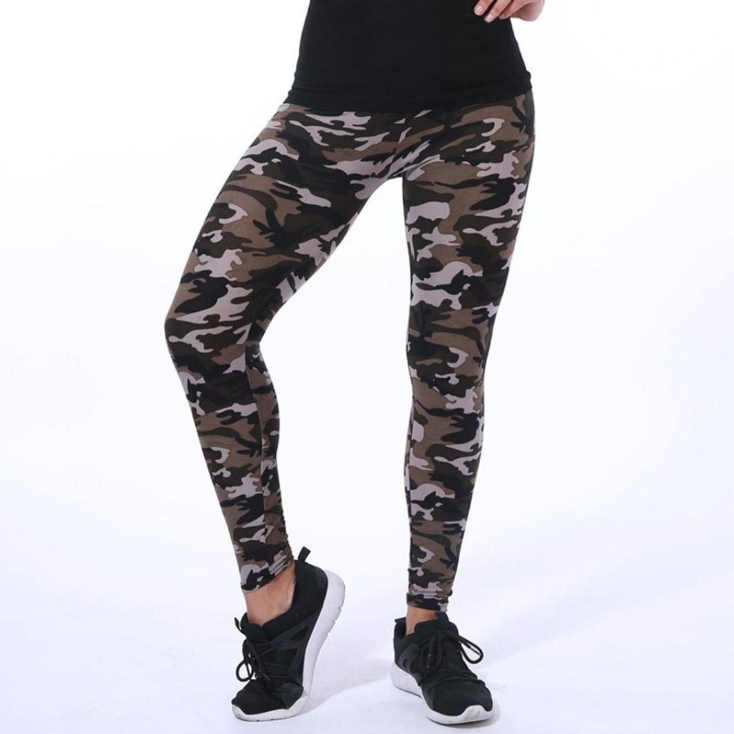 Minisoya Fashion Women Camouflage Printed Trouser Tight Pencil Leggings Casual Trousers Fitness Gym Yoga Long Pants