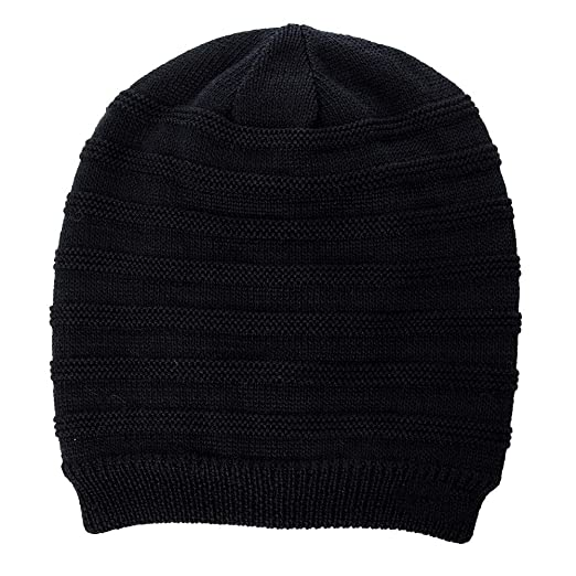 fa076a6c15d Jeff   Aimy Unisex Mens Cable Knit Slouch Beanie Hat Skull Black Beanies  Winter