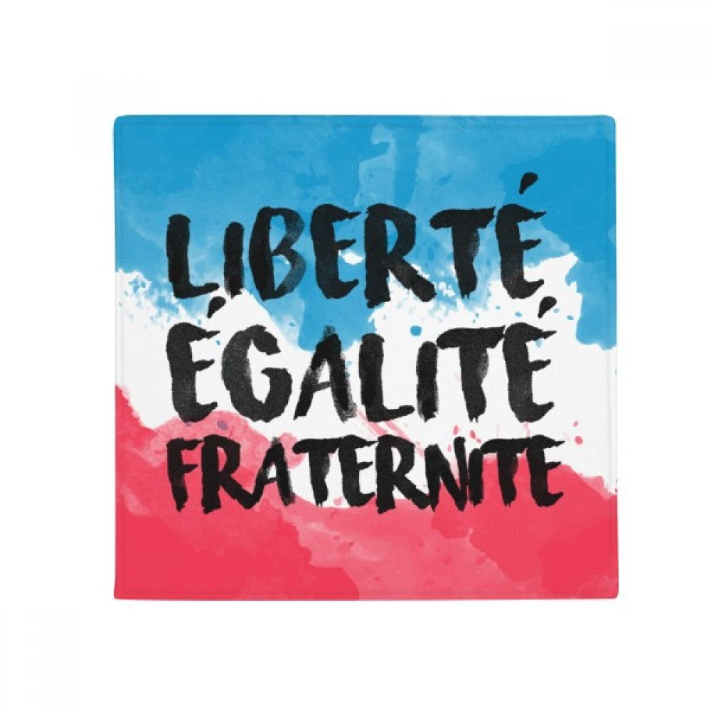 60X60cm DIYthinker Liberte Egalite Fraternite France Mark Flag Anti-Slip Floor Pet Mat Square Bathroom Living Room Kitchen Door 60 50Cm Gift