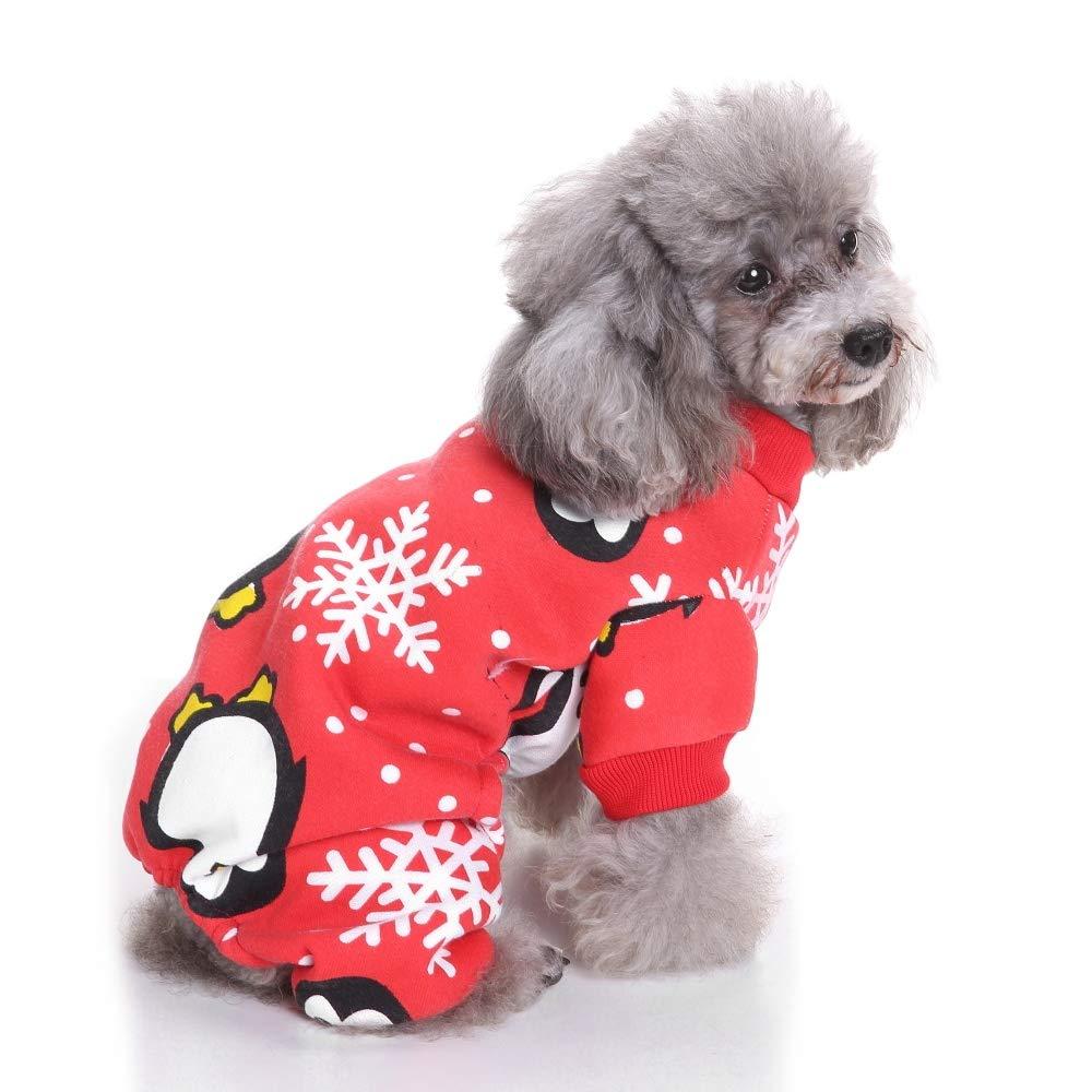 Medium Dog Christmas Costume Cute Penguin Snowman Santa Costumes Pet Apparel Winter Clothes