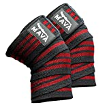 Knee Wraps for Cross Training WODs,Gym Workout,Weightlifting,Fitness & Powerlifting– Pair- Best Knee Straps for Squats -For Men & Women- 72'-Compression and Elastic Support by Mava8482;