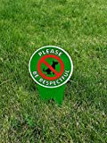 DOUBLE Sided!! No Poop Dog Signs | Do Not Poop / Stop Dogs From Pooping On Your Lawn | Sign...