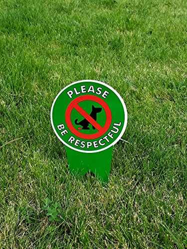 Dog Holiday Sign (DOUBLE Sided!! No Poop Dog Signs | Do Not Poop / Stop Dogs From Pooping On Your Lawn | Sign Politely Reads: