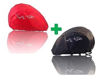 2x Fahrradhelm Überzug ROT größenverstellbar Helm Regen Überzug Regenschutz Helmzubehör Radsport