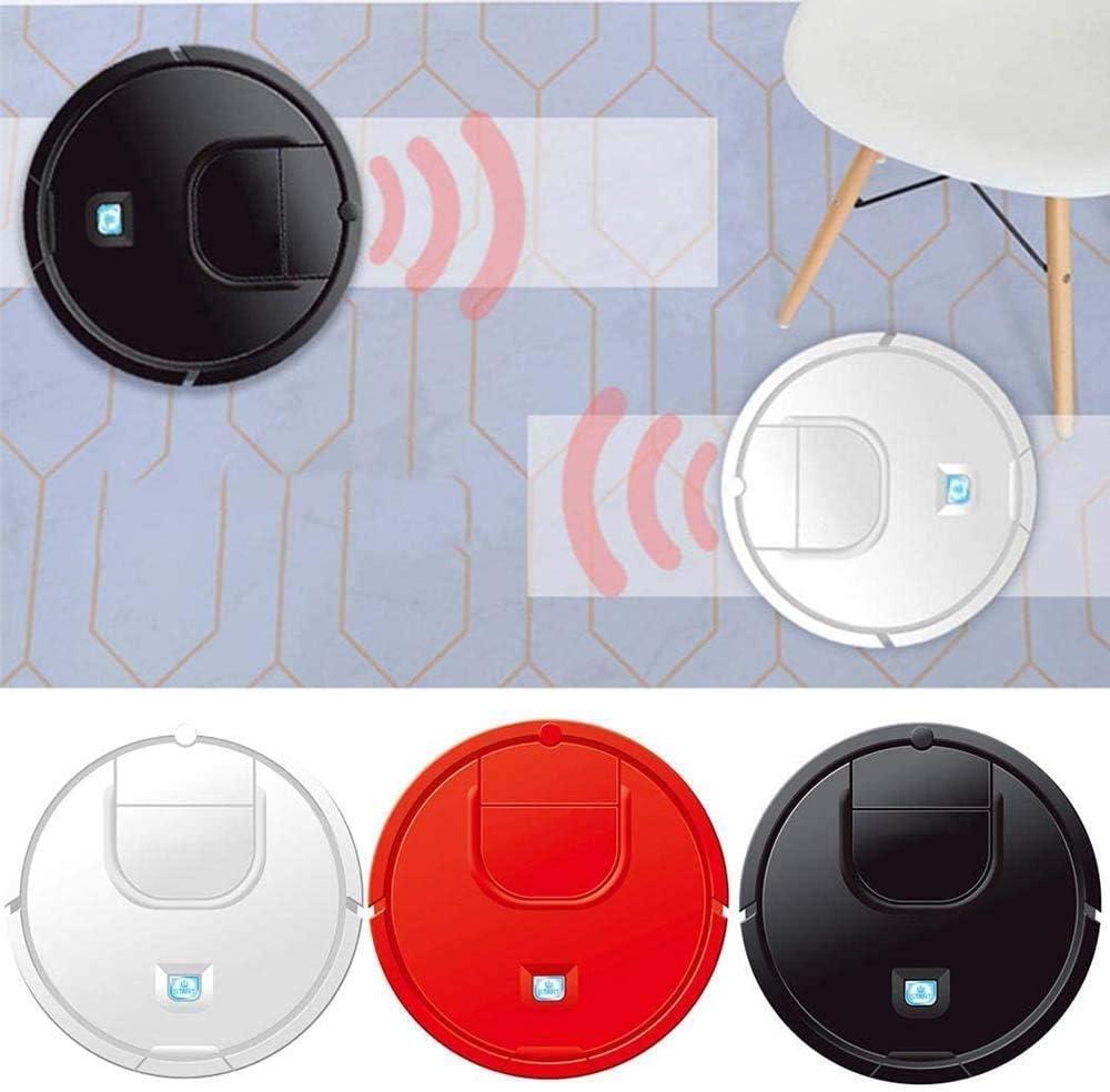 Spazzare Robot Mini Intelligente spazzare Robot 2 in 1 Pigro casa Multifunzione Wet-Dry Aspiratori, Rosso ggsm (Color : Red) White