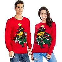 Goodstoworld Unisexe Pulls de Noël pour Homme Femme Ugly Christmas Sweater Pulls Noël Tricoté Doux S-XXL