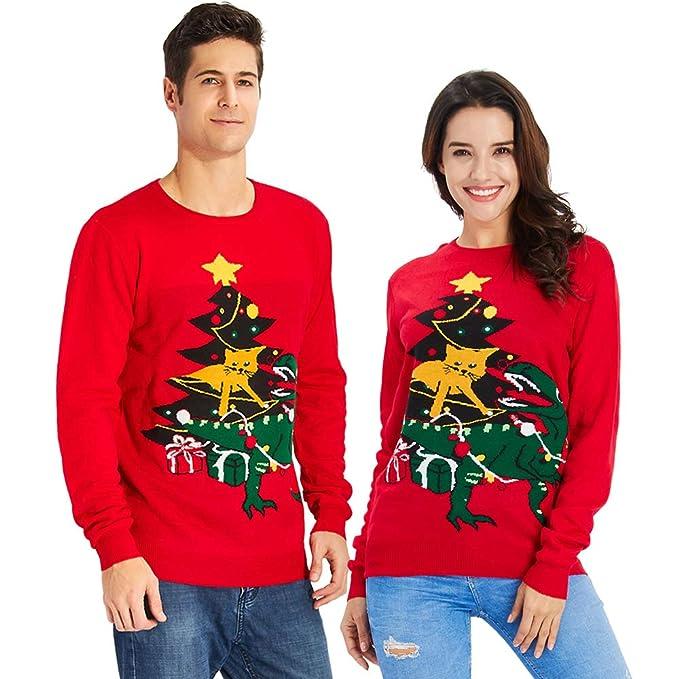 5a004ac565980 Goodstoworld Jersey Navidad Adulto Hombre y Mujer Novedad Elfo Motivos  Suéter Tejido Ugly Christmas Sweater Unisex S-XXL  Amazon.es  Ropa y  accesorios