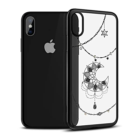 check out 9954e e26ea iPhone X Case Clear Case with Swarovski Crystals by ICONFLANG, Slim Case  Shockproof Anti-Scratch Finish, Cover for iPhone X 5.8