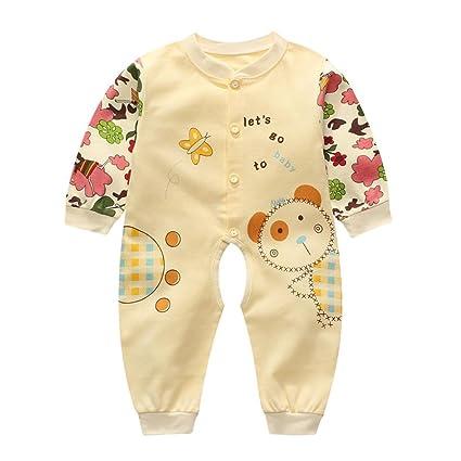 Xinantime - Recién nacido Pijama Bebés Algodón Niñas Niños Sleepsuit 1 Años (3-6