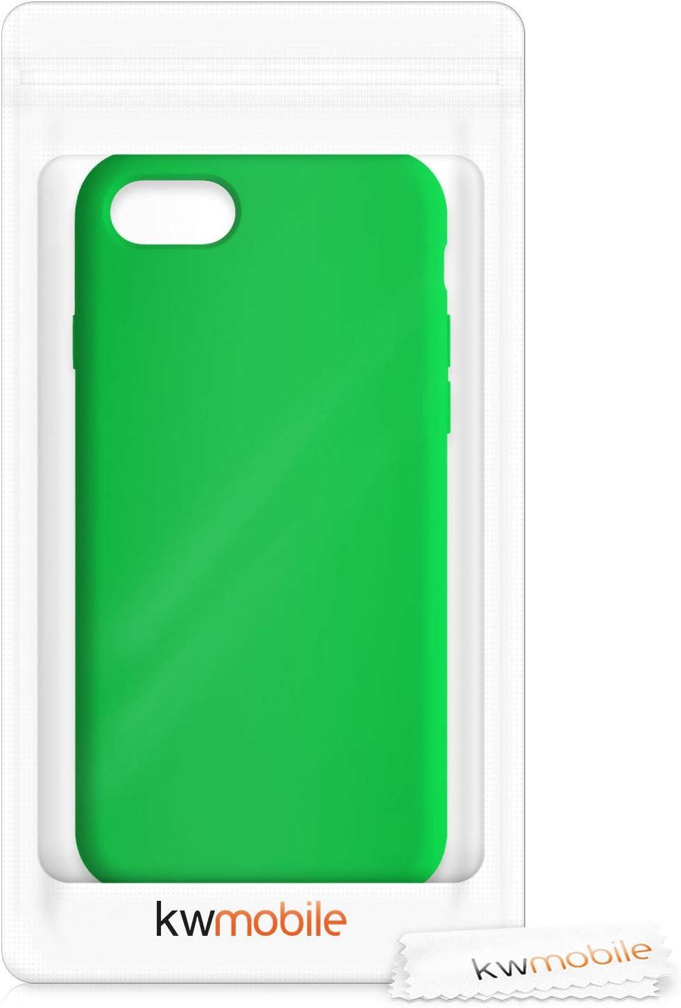 2020 - Carcasa de TPU para m/óvil kwmobile Funda Compatible con Apple iPhone 7//8 // SE Cover Trasero en Verde ne/ón