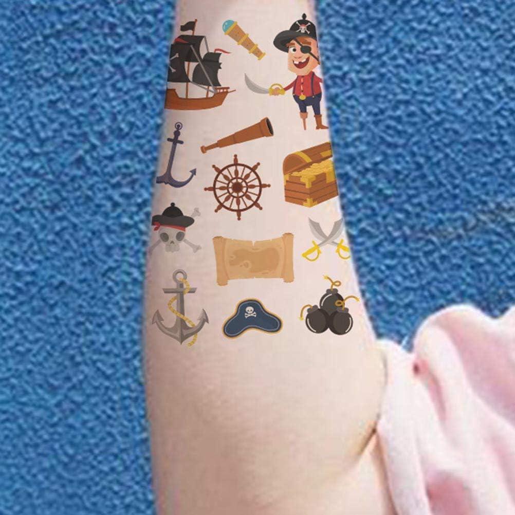 Toyvian Piratas de Dibujos Animados Pegatinas de Tatuajes ...