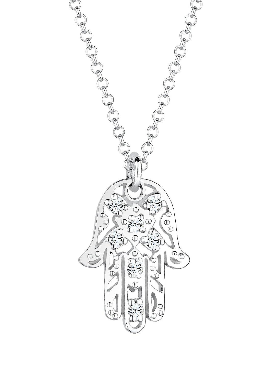 Elli Collar mujer diseño mano de Fatima plata de ley con cristales