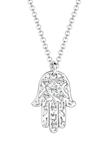 Elli Women 925 Sterling Silver Xilion Cut Necklace QY8njKM1d