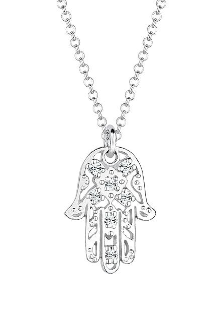 4bfd97609299 Eli - Collar con Colgante para Mujer de Plata de Ley con Cristales  Swarovski 45 cm  Amazon.es  Joyería