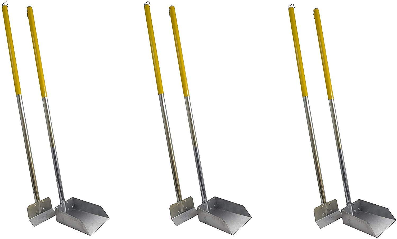 Flexrake Standard Poop Pet Scoop/Spade with 3-Feet Aluminum Handle (Pack of 3) by Flexrake