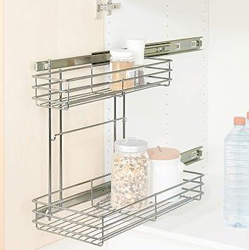 Wenko 5931500 armario Duo - bandejas extraíbles para, metal cromado, 22,5 x 43 x 47,5 cm Brillante: Amazon.es: Hogar