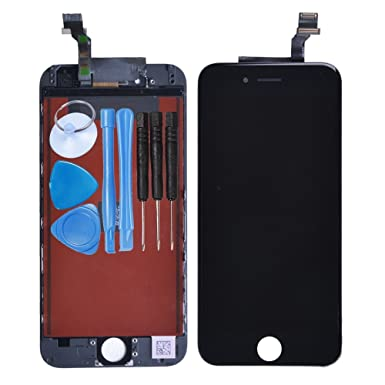reputable site f7c0a 7f359 LL TRADER for iPhone 6 Black LCD Display Touch Screen Digitizer Assembly  Replacement with Simple Tools