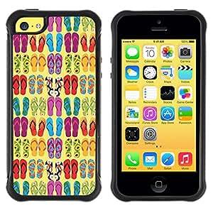 """Pulsar iFace Series Tpu silicona Carcasa Funda Case para Apple iPhone 5C , Fracasos Summer Sun Beach Diseño de Moda"""""""