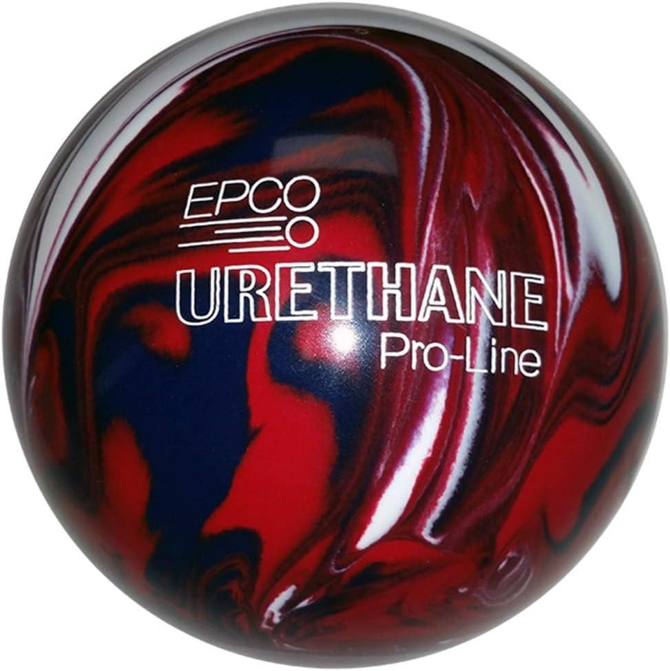 Duckpin EPCO ウレタンボーリングボール 5インチ ダークレッド/ロイヤル/ホワイト  3lbs 10oz