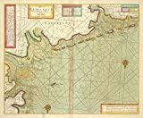Historic 1702 Map | A chart of EEMS ELVE, Wefer, Eyder and Hever. With the Holy Isla | Antique Vintage Map Reproduction