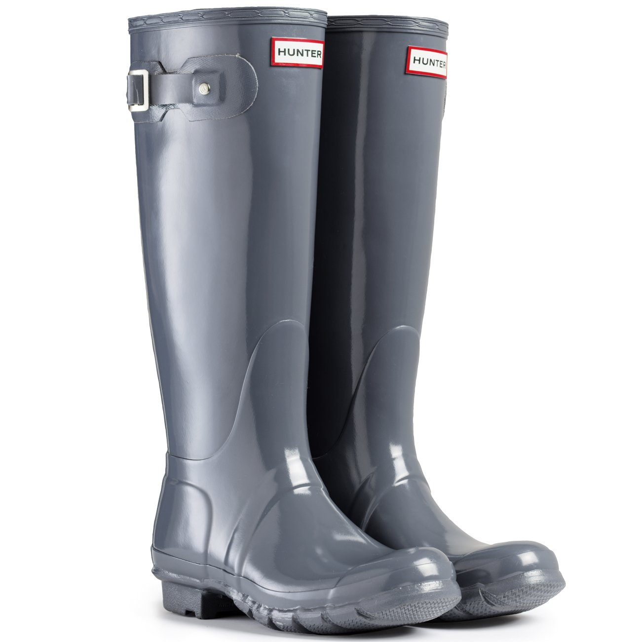 Womens Hunter Original Tall Gloss Waterproof Wellington Winter Rain Boot B00IHW399M 7 M US|Graphite