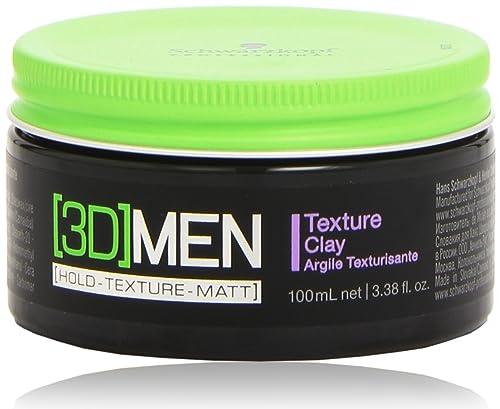 Schwarzkopf [3D] Men - Cera para cabello, hombre, 100ml