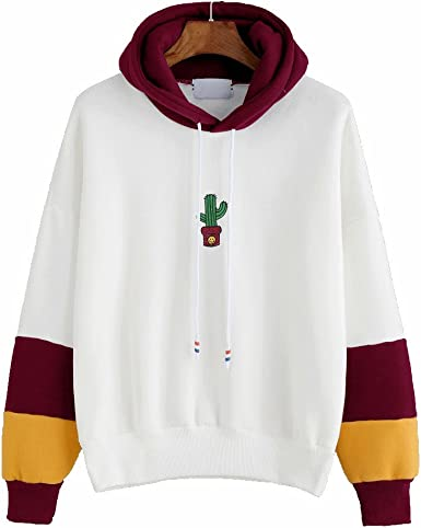 Holacha Sudadera con Capucha de Cactus Impreso, Camisa de Manga Larga Tops Blusa de Deporte Suave Moda Kawaii para Mujeres Chicas: Amazon.es: Ropa y accesorios