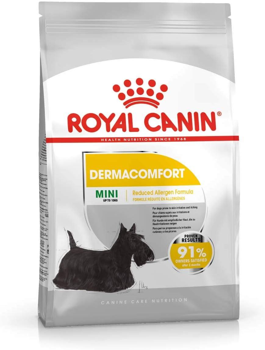 ROYAL CANIN Mini Dermacomfort Pienso para Perros de Razas Pequeñas Prevención Problemas de Piel (Picores, Irritaciones.) - Saco de 1kg