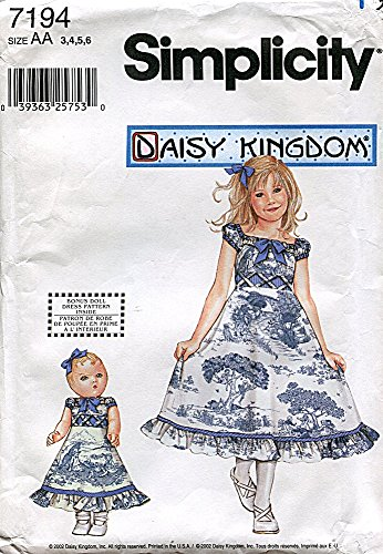 Simplicity Daisy Kingdom Pattern 7194 Girls and 18-Inch for sale  Delivered anywhere in USA