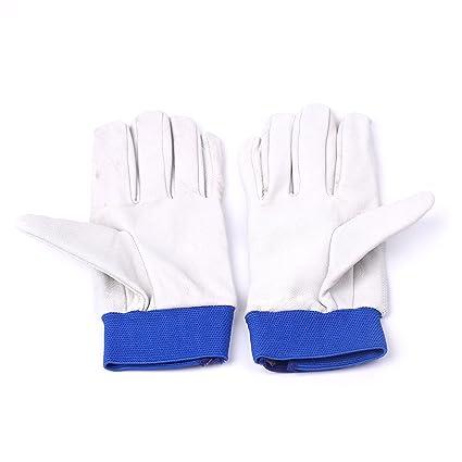 Tiptiper Guantes de trabajo de soldadura, soldadores de Tig durables a prueba de calor Guantes