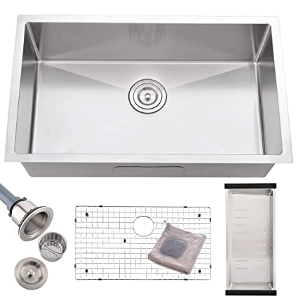 deep stainless steel kitchen sink double bokaiya commercial 30 undermount stainless steel kitchen sink deep drop in single bowl sink