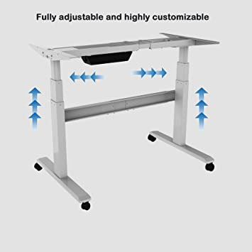 Terrific Electric Stand Up Desk Frame Only Dual Motor Height Download Free Architecture Designs Grimeyleaguecom