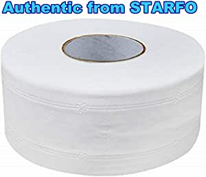STARFO 4-Ply Thicken Jumbo Toilet Paper,White Large-Volume Septic-safe Roll Bath Tissue for High-traffic Areas