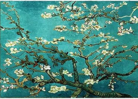 Amazon Com Diy Oil Painting Paint By Numbers Kits For Adults Masterpieces Worldwide Famous Painting Collection For Friends Relatives Apricot Blossom By Van Gogh 16x20 Inch Frameless Paintings